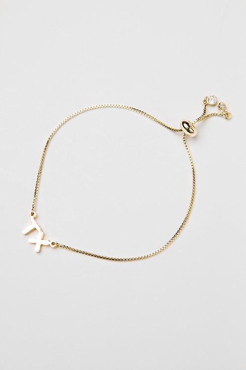TX Initial Bracelet