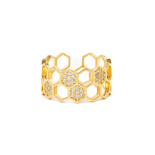 Honey Comb Ring - Bracha