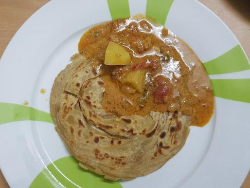 Wheat Parotta with Salna