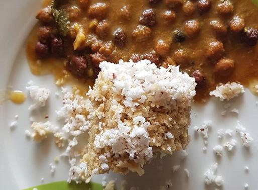 Wheat Puttu and Kadala Curry