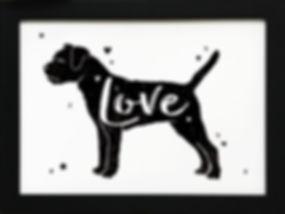 Love dogs print sample