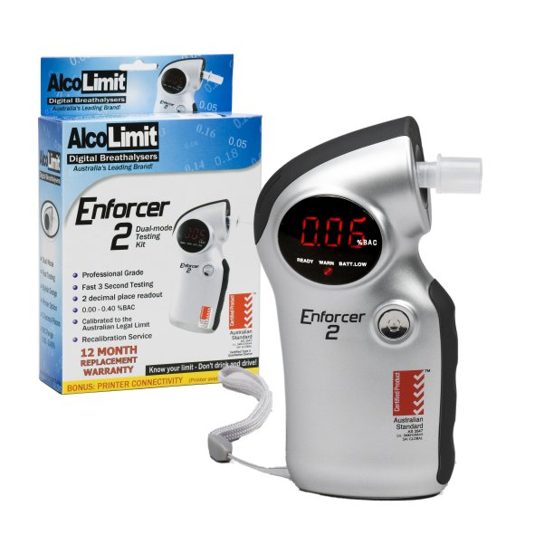 Enforcer 2 Breathalyser and package