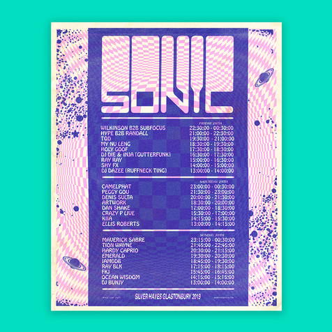 Sonic Stage Poster design