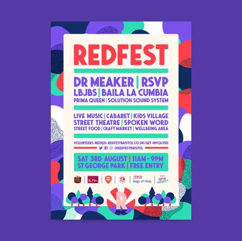 Redfest Poster deisgn 2019