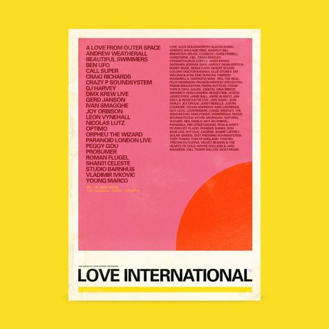 Love International Line Up Poster 2019