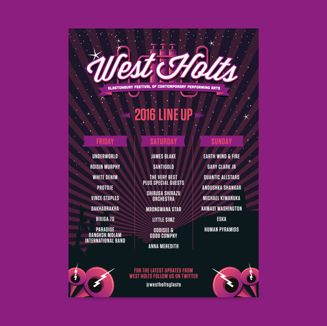 West Holts line up poster 2016