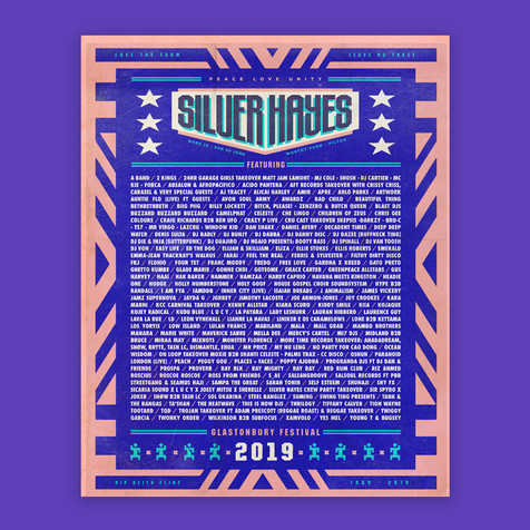 Silverhayes line up poster Glastonbury Festival