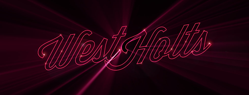 Neon branding and design for West Holts stage, Glastonbury Festival. Part of animation