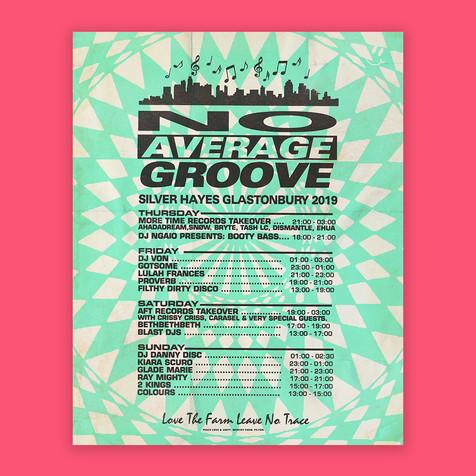 No Average Groove Poster design
