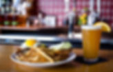 best brunch in arlington, delicious brunch food, breakfast sandwich and draft beer