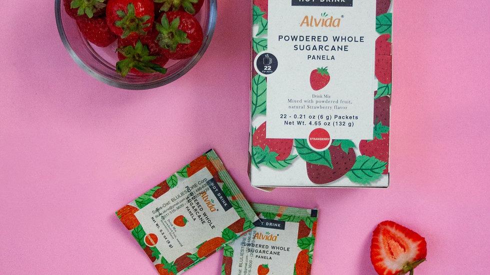 Alvida Hot Drink : Powdered Whole Sugarcane Strawberry Flavor