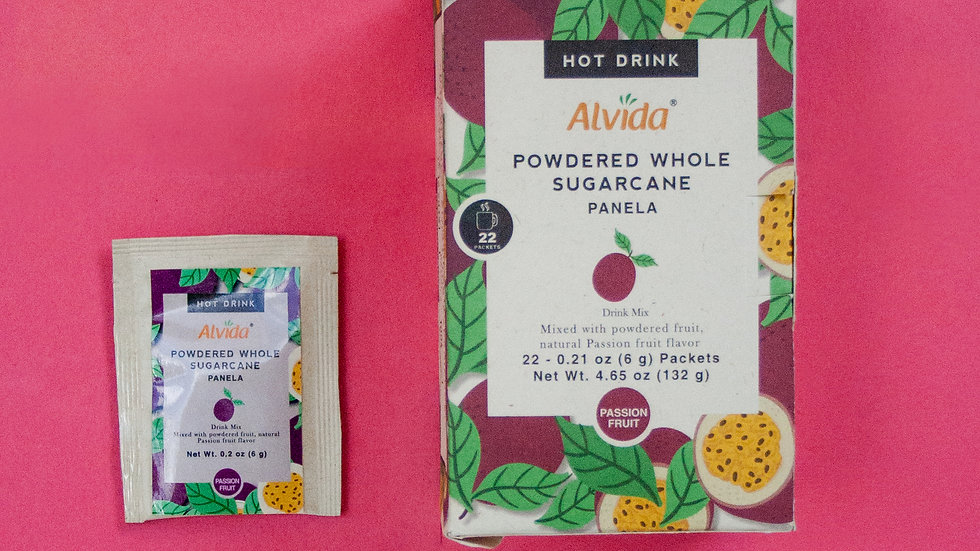 Alvida Hot Drink : Powdered Whole Sugarcane Passion Fruit Flavor