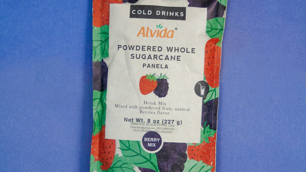 Alvida: Powdered Whole Sugarcane Mixed Berries Flavored