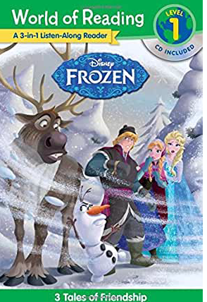 Frozen Listen Along: 3 World of Reading Level 1 Readers with CD!