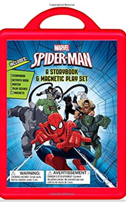 Spider-Man: A Storybook and Magnetic Play Set