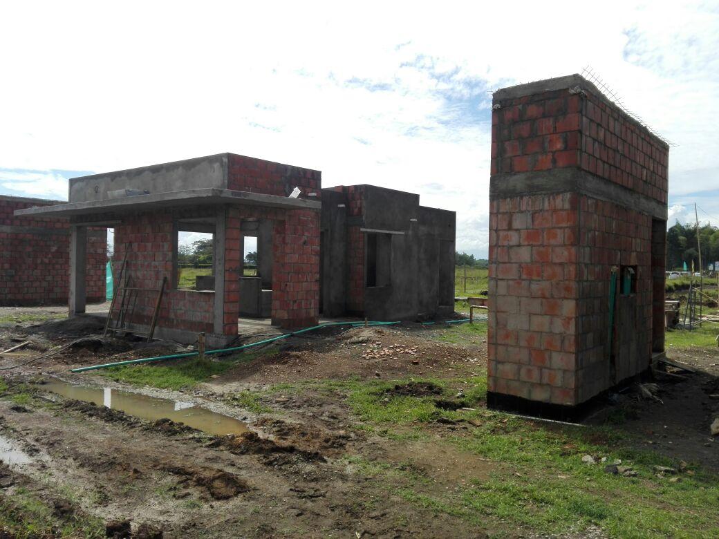 Avance construcción de la portería