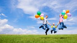 family_children_balloons_nature_holiday_joy_54202_3840x2160