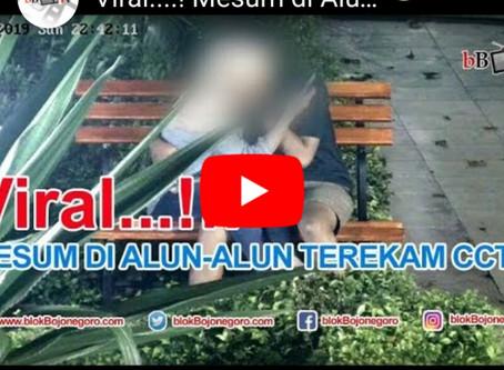 Viral..!! Mesum di Alun Alun Bojonegoro terekam CCTV