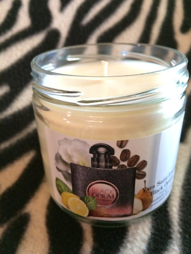 YSL Black Opium inspired Soy Candle