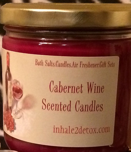 Triple Scented Candle- Cabernet Wine Scent