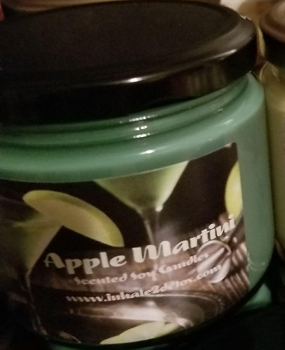 Apple Martini Scented 12oz Soy Candle