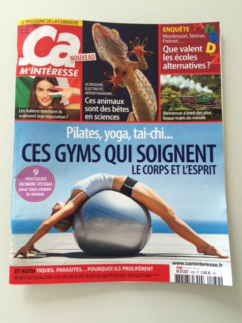 """Yoga, Tai-Chi, Pilates et Technique Alexander, le magazine """"Ça m'intéresse"""" en parle..."""