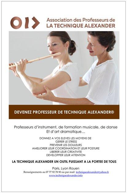 DEVENEZ PROFESSEUR DE TECHNIQUE ALEXANDER