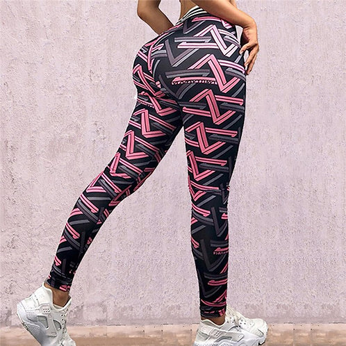 Pink Maze Yoga Pants
