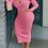 Thumbnail: V neck Long Sleeves Maxi Dress