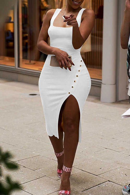 Knee Split Dress