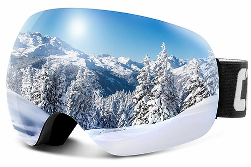 Anti-Fog Ski Goggles Spherical Frameless Ski Snowboard Snow Goggles