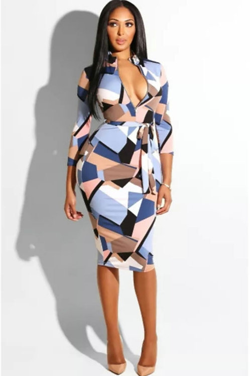 Sleek Tie Dress