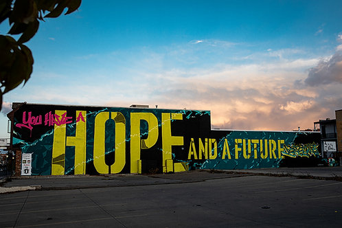 Digital print Hope and a future