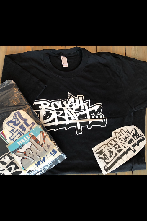 Rough Draft T shirt & sticker pack