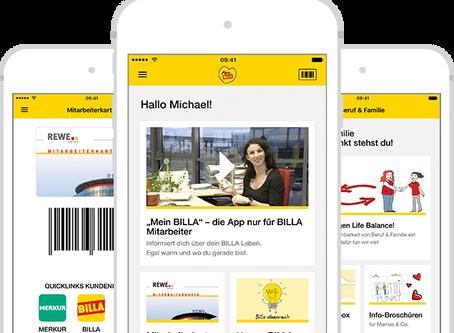 Mitarbeiter App bei Billa und Rewe Österreich