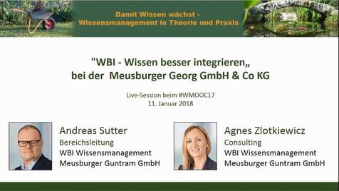 WBI - Wissensmanagement bei Meusburger