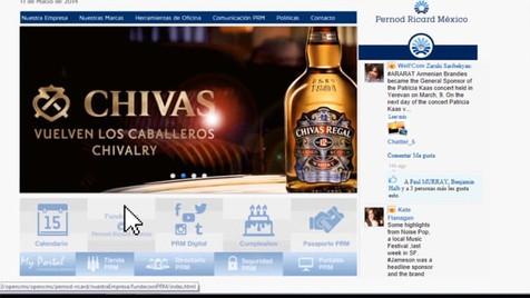 Das neue Intranet von Pernod Ricard