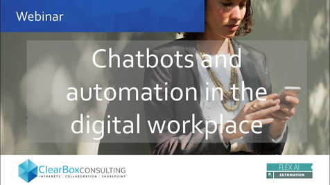 Chatbots and automation in the digital workplace