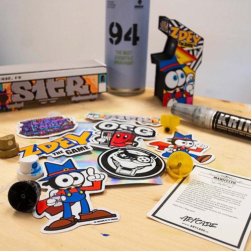 Sticker Pack collector Tim Zdey The Game NES Artcade