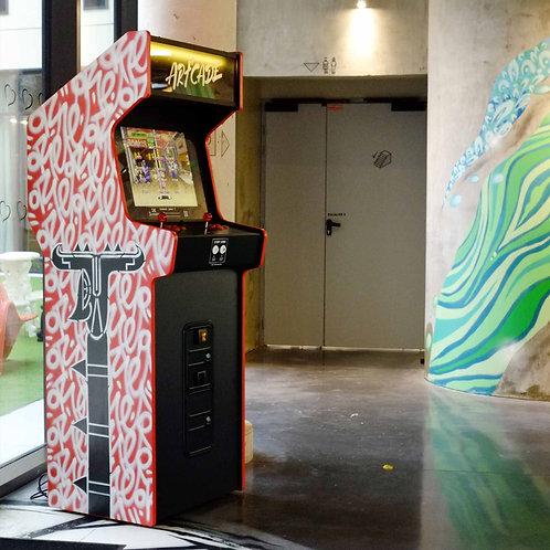 borne arcade originale, street artiste Oré, objet d'art