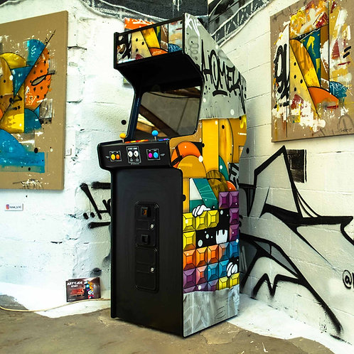 borne arcade neuve, retrogaming, Homek, solo show