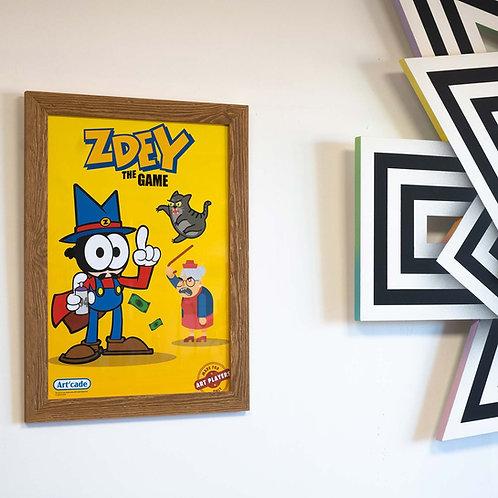 Poster A3 Tim Zdey The Game NES Artcade