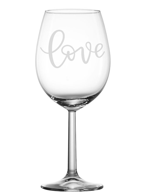 Gravure sur verre - Love