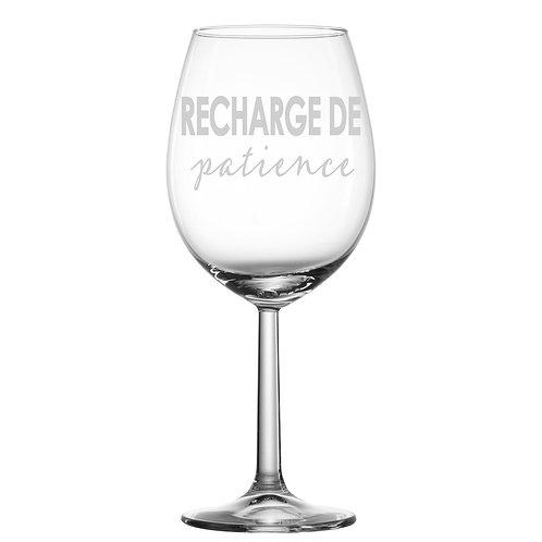 Gravure sur verre - Recharge de patience