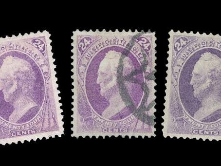 U.S. 24c Purple 1870 - 1875