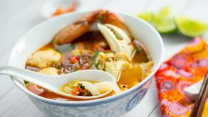 Vietnamese Tapioca Noodle in Crab Soup