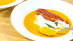 Butternut Squash Soup With Sage Chips