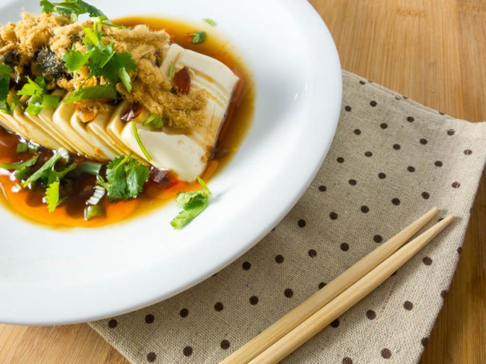 Century Egg Tofu with Pork Floss Salad (7 of 7)