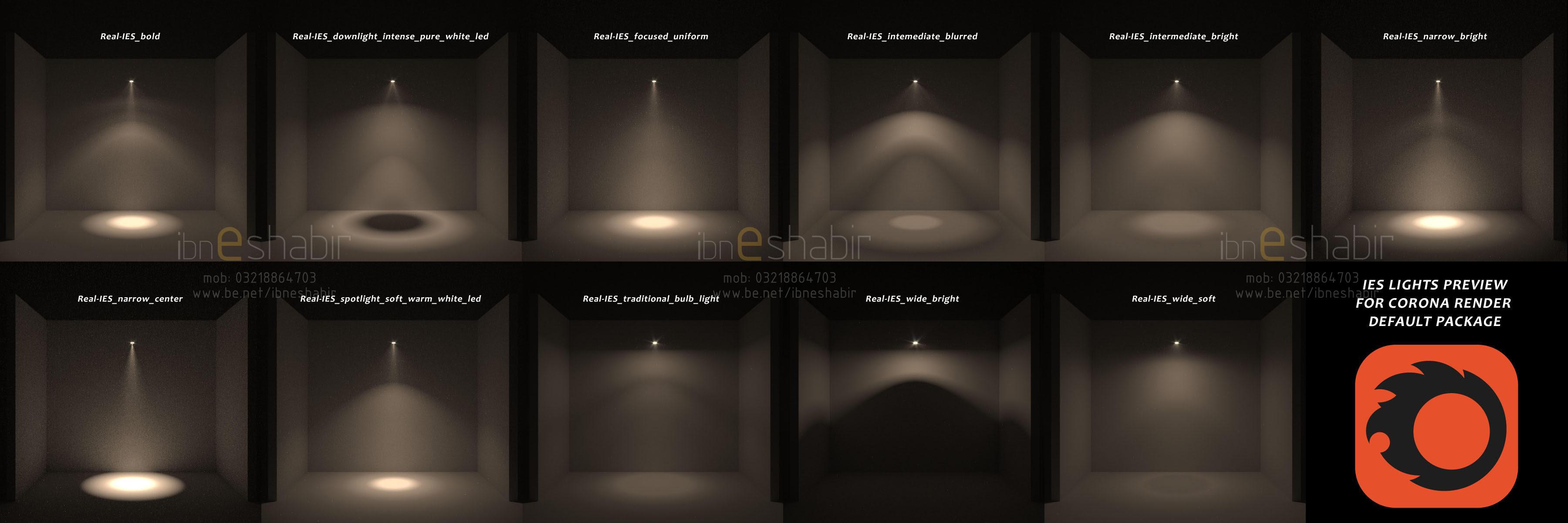 Corona IES Lights Previews