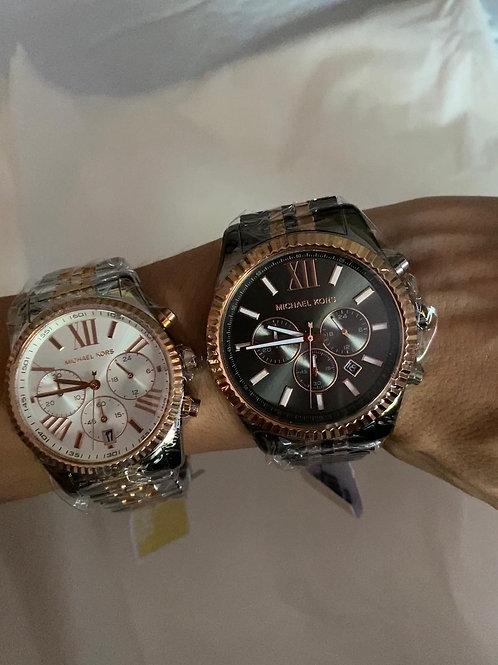 MK8561  BLACK Two-Tone Lexington Watch